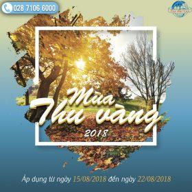 Khuyến mãi Mùa Thu Vàng 2018 Vietnam Airlines chặng quốc tế