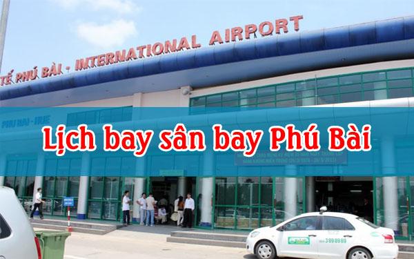 lịch bay sân bay phú bài