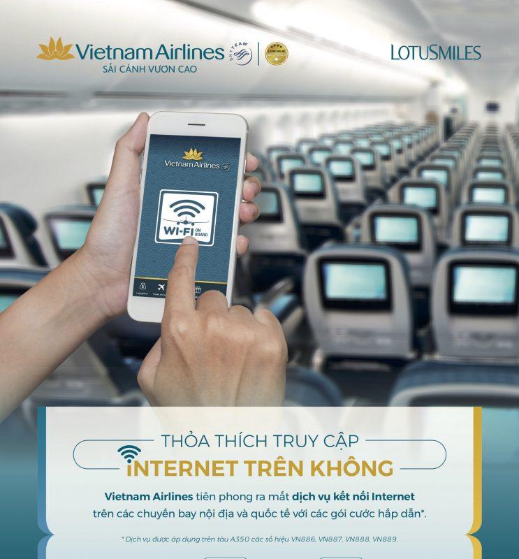 wifi chuyến bay Vietnam Airlines